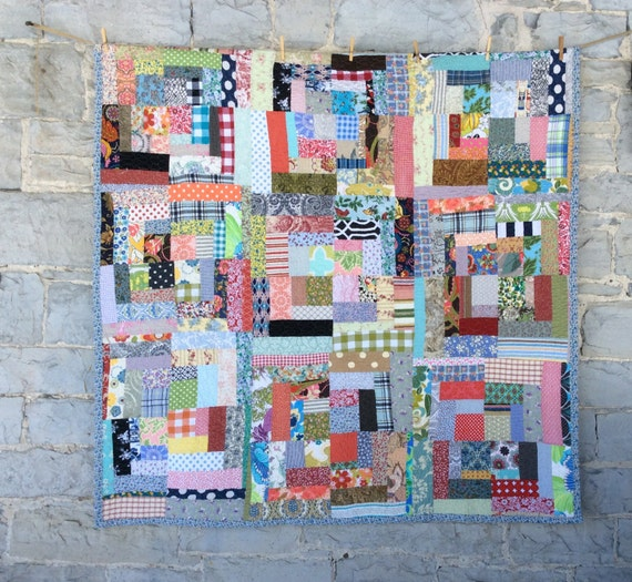beautiful vintage styled housetop quilt double or queen