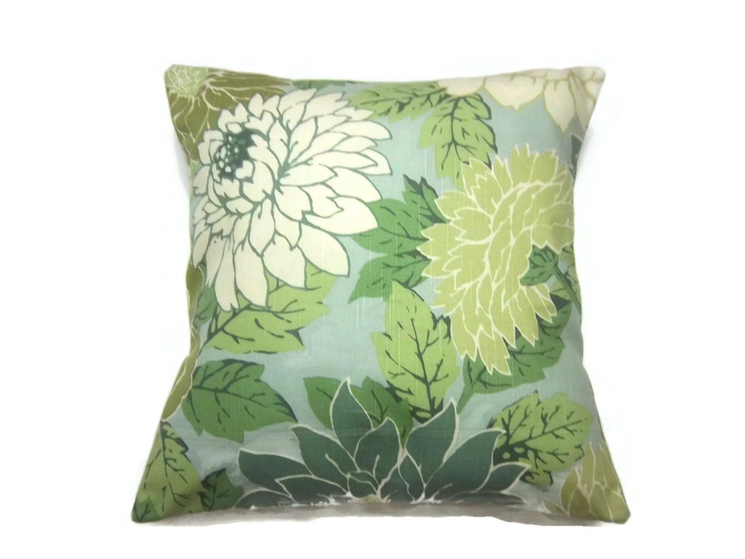 Decorative Pillow Cover Mint Green Off White Olive Green