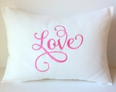 WORD of the YEAR 2016 Pillow Cover 12 x 16. Resolution. Good Thoughts. Positive New Years Inspiration. Any Word You Choose. Dorm Decor. Gift