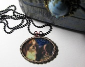 RESERVED for Janet L King Charles Cavalier Necklace