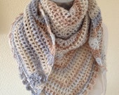 Crochet Festival Scarf- Road Trip Scarf-Stole-Neckwear-Wrap-Wrapping-Ready to Ship