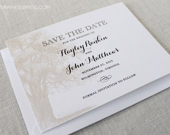 Oak Tree Save the Dates, Oak Save the Dates, Tree Save the Dates, Angel Oak Save the Dates, Oak Trees, Oaks, Outdoor Wedding, Rustic Wedding