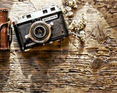 Rustic Vintage Camera Photoshop Mock Up Blog Design Styled Photography Digital Graphics Website Background Commercial Use