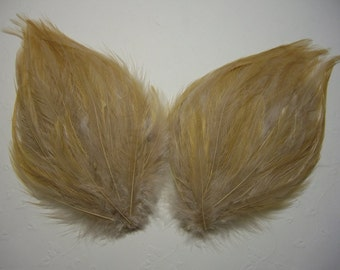 2 BEIGE Feather Pads