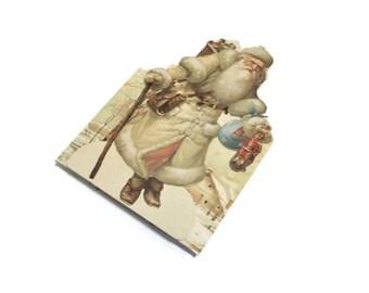 Victorian Santa Collapsible Box | Santa Basket Box