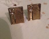 Vintage Cufflinks, Stone Cufflinks, Gold Cufflinks, Mens Cufflinks