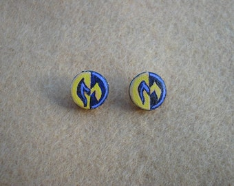SCA Order of the Maunche handpainted leather stud earrings