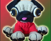 Amigurumi Pattern Crochet Barry Pug Dog Puppy DIY Digital Download