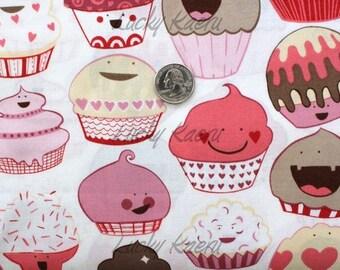 Alexander Henry Cupcake Fabric in Mocha Pink OOP - HALF Yard