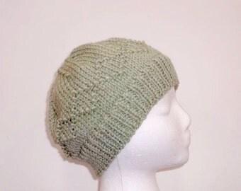 Knitted beanie hat, warm beanie, large brim  5062