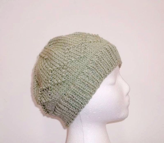Knit Pattern Beanie With Brim : Knitted beanie hat warm beanie large brim 5062 by CaboDesigns