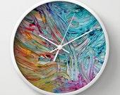 Rainbow Gelato Wall Clock