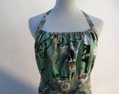 Ladies Apron in Mint Colored Ghastlie Fabric