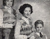 Vintage Bestway 1940s Family Fair Isle Pullover Vest Child to Adult PDF Knitting Pattern  PB185