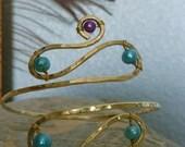Custom Upper Arm Bracelet, Arm Cuff -  comes in copper, brass or silver