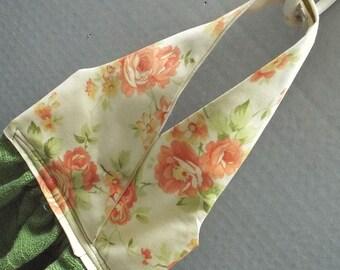 Hanging Dish Towel Shabby Chic Roses Fabric