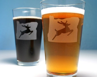 Oregon Stag Portland Pint Glass
