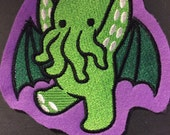 Baby Cthulhu Patch (Choose your own color backgound)