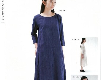 M148 Adult Crew Neck Flared Dress M Pattern - Japanese M Pattern