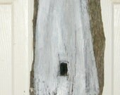 Ocracoke Lighthouse NC Painting on Driftwood by Susan Thau