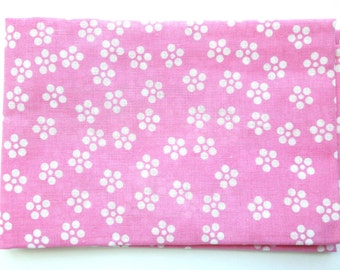 Japanese Tenugui Cotton Gauze Fabric Pink And White Plum Blossoms 34 x 95 cm