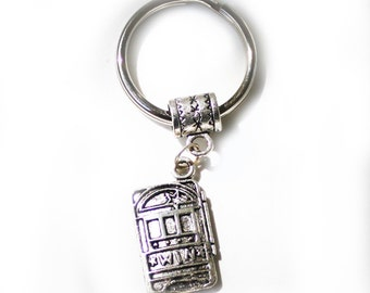 Silver SLOT Machine Key Chain Key Ring Key Holder Key Fob KC-Gen008-AM