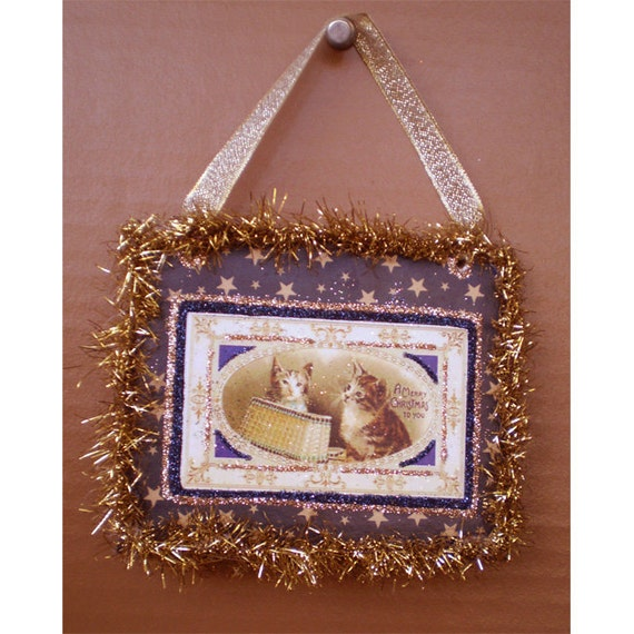 Christmas Yule Winter Holiday Victorian vintage traditional tree ornament decoration