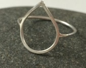 Reserved Listing- Sterling Open Drop Ring Size 8