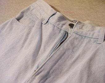 Vintage Light Blue Jeans Stefano sz 12 zippered ankles | club Rave dance Punk rocker Edgy festival concert