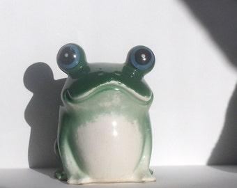 Vintage Ceramic Frog Bank