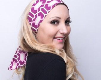 Scarf Headband, Scarf Head Band, Purple Headband, Purple Head Band, Colorful, Cotton, Headscarf, Head Scarf, Headscarves, Head Scarves Women