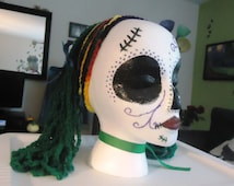 CLEARANCE Freida Day of the Dead Halloween Skull Styrofoam Head Decorations