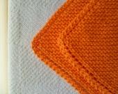 Bright Orange Cotton Dishcloth