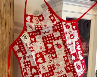 Childs Apron - Christmas Stocking Quilt