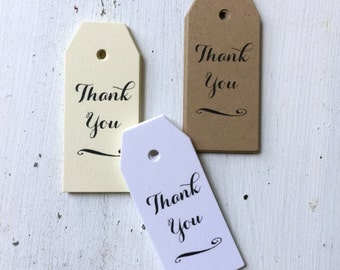 50 Mini Thank You Favor Tags, Wedding Thank You Tags, Bridal Shower Favor Tag, Baby Shower Favor Tag, Wedding Gift Tags,  t003
