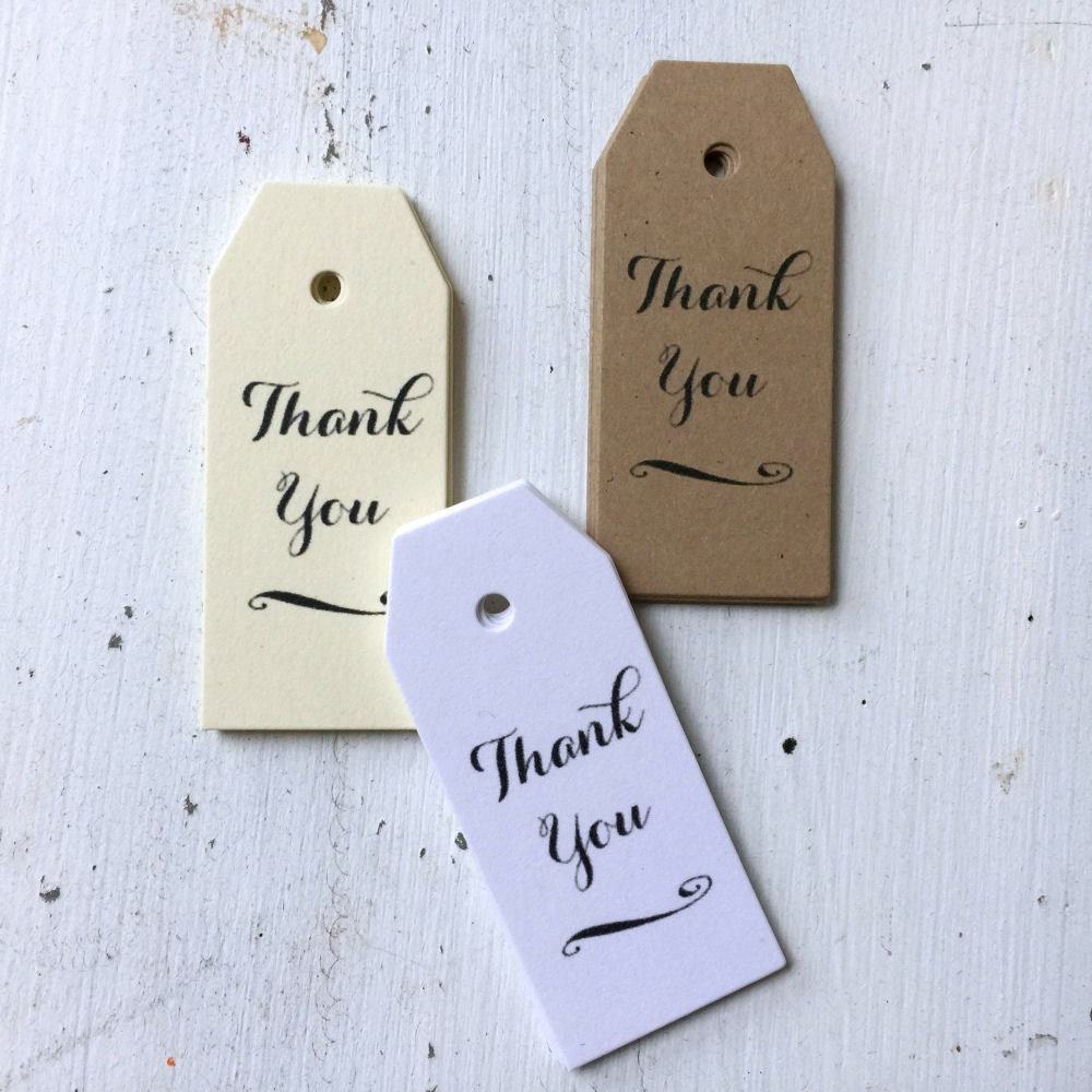 Thank You Wedding Gift Tags : 50 Mini Thank You Favor Tags Wedding Thank You Tags Bridal