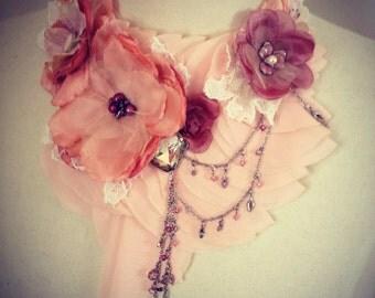 Embellished statement neckpiece