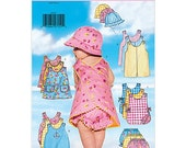Butterick 5439 Infant Romper,Jumper, panties, and hat Pattern UNCUT NB,S,M