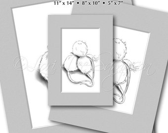 Rat Art Print with Faux Mats, Digital Download Black & White Sketch, Drawing, Pet Art Portrait, Animal Art, Rattie, Ratty