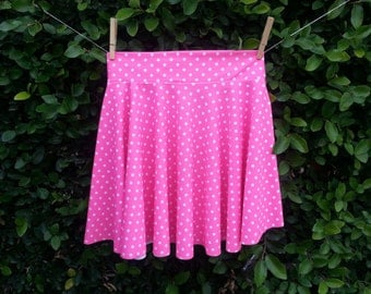 Retro Polka dot swim skirt to match your suit. sizes xs-xl choose your color