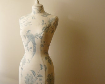 Wedding Display Home Decor Blue White Mannequin Dressform - Summer Blue