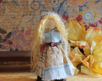Helga, custom made doll, wooden bendy doll, dollhouse doll
