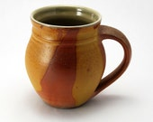 Woodfired Mug in Yellow Flashing Slip 12 Oz.