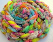 Textured Roving No.106 - Hand Blended and Pulled Fiber for Spinning and Felting