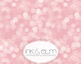 "Pink Bokeh Backdrop 6ft x 6ft, Vinyl photography Backdrop, Pink Bokeh Valentine Photography Backdrop Photo Booth ""Pretty in Pink Bokeh"""