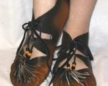 GHILLIES Renaissance Shoes Gillies Men's and Women's Handmade Moccasins 16th Century Shoes Medieval Footwear Gladiator shoes