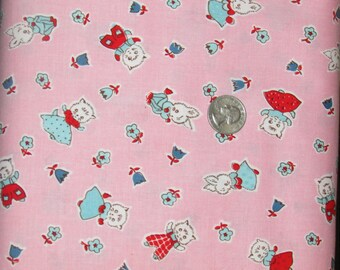 "SALE! 1 yard of the Milk Friends Pink print from the Penny Rose Fabrics ""Milk, Sugar & Flower"" collection by Elea Lutz"