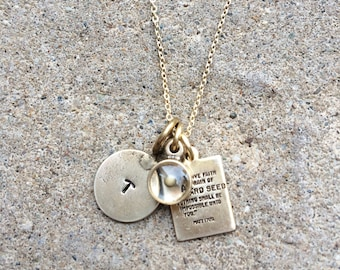 Personalized Mustard Seed Necklace, Inspirational Necklace, Religious Jewelry - Faith Necklace, Mothers Day gift, Graduation gift