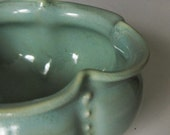 Porcelain small serving bowl in green