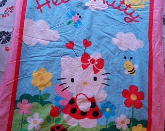 Hello Kitty Baby blanket. lady bug